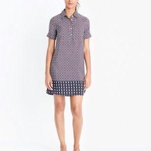 J. Crew Short Sleeve Printed Shirtdress size 6